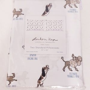 "New  ""London Kaye"" Doggie Yoga Pillowcase Set"